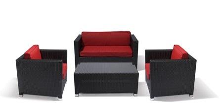 Lounge Sessel Rattan Grün